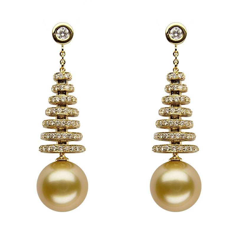 Baggins' South Sea pearl earrings