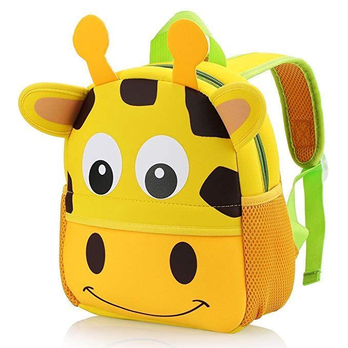 e4e25e993e04 Hotrose Children Bag Kindergarten Cartoon Backpack Animal Pattern Rucksack  for Toddler Boys and Girls (giraffe)