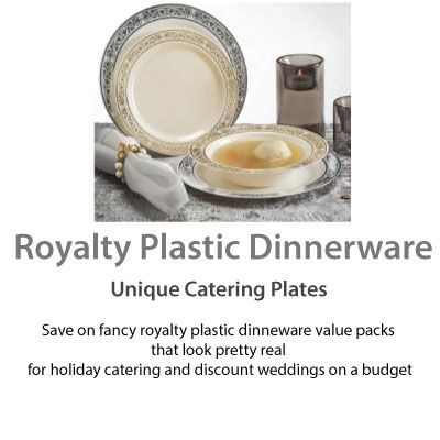 Royalty Plastic Dinnerware Unique Catering Plates Save on fancy royalty plastic dinneware value packs that look  sc 1 st  Pinterest & Royalty Plastic Dinnerware Unique Catering Plates Save on fancy ...