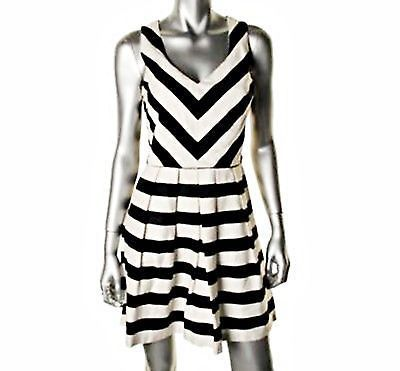 Chevron shift dress black and white.