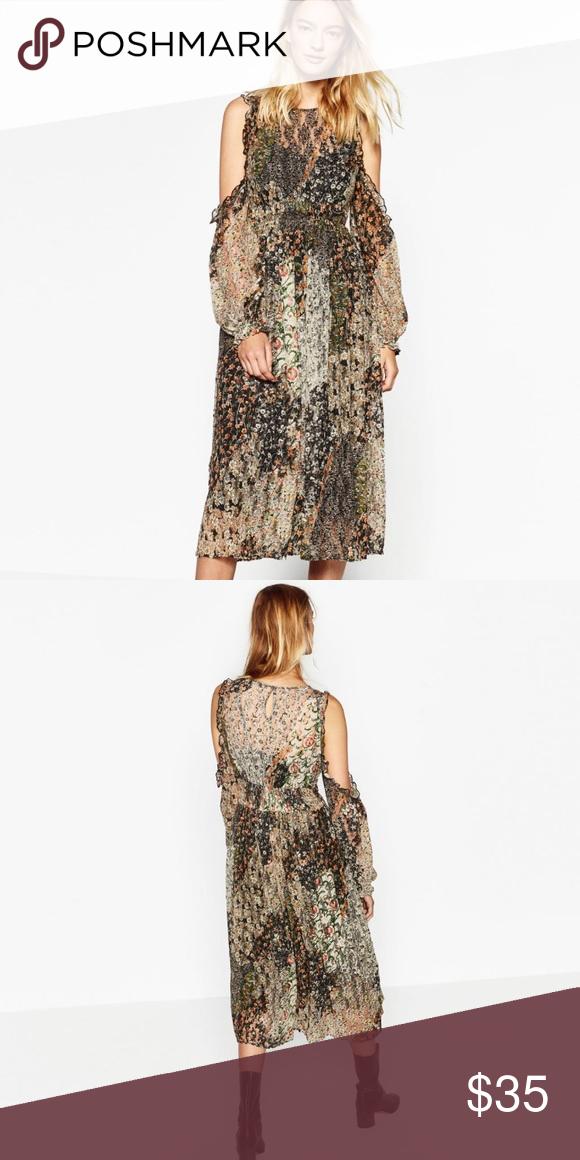 ea7681925cf Zara off shoulder floral dress Zara floral dress  Size XS   off-shoulder    long sleeve   worn only once