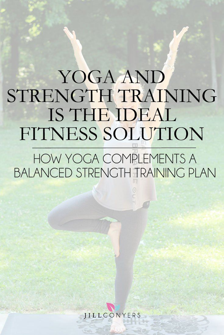 Combining a yoga with strength training give you the best of both fitness worlds. Most importantly, a regular yoga practice will help prevent injuries. Pin it to read later. Jill Conyers | Fitness Health & Happiness http://jillconyers.com