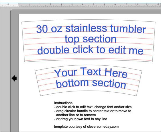 Free 30 oz Yeti template for Silhouette or Cricut users vinyl - tumbler template