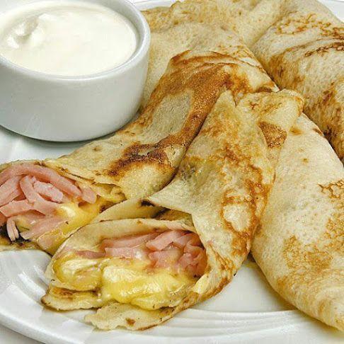 Crepes De Jamon Y Queso Suaves Recetas Para Cocinar Comida Recetas De Comida