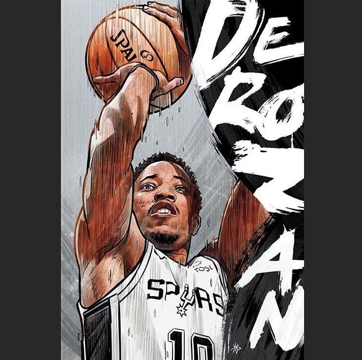 Demar Derozan Nba Art Nba Artwork Nba Basketball Art