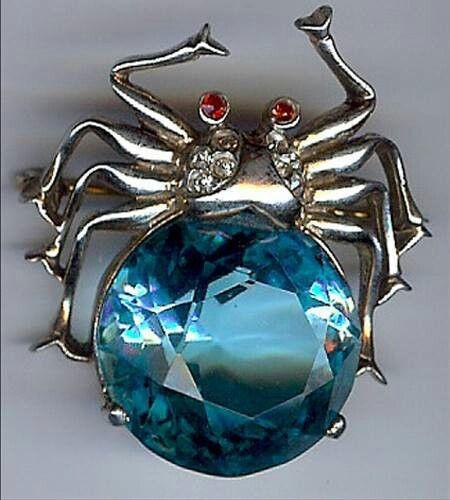 Blue gem spider
