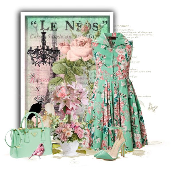 Mint Green Spring by kmlvr9 on Polyvore featuring Liliana