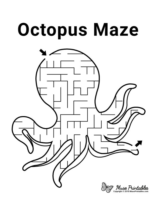 Free Printable Octopus Maze Download It At Https Museprintables Com Download Maze Octopus Mazes For Kids Printable Mazes For Kids Activity Sheets For Kids