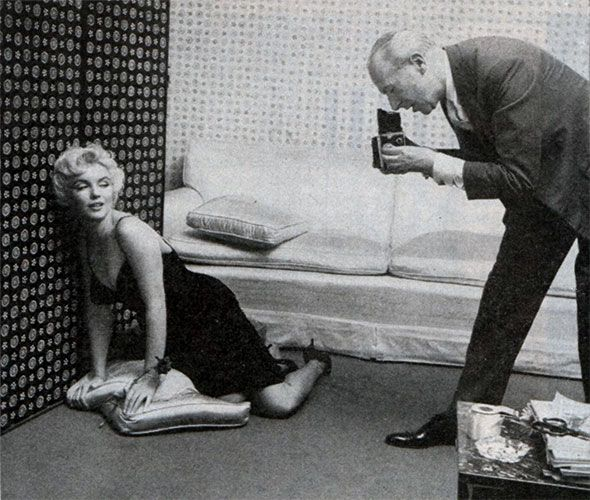 Marilyn Monroe and Cecil Beaton