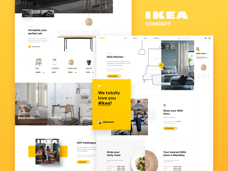 Ikea Online Concept Homepage Website Redesign Ikea Online Web Layout Design