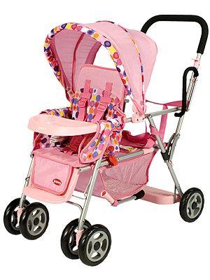 Joovy Just Like Mine Toy Caboose Doll Tandem Stroller