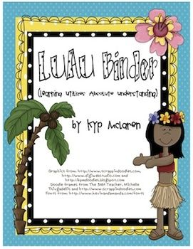 So, what is a Luau Organizational Binder?    The LUAU binder is a 3-ring notebook that students use everyday to develop organizational skills and responsibility.  This 3-ring binder houses EVERYTHING your students and you need to keep up-to-date with what is going on in your classroom and at school. Everything will be right here in the LUAU Binder!