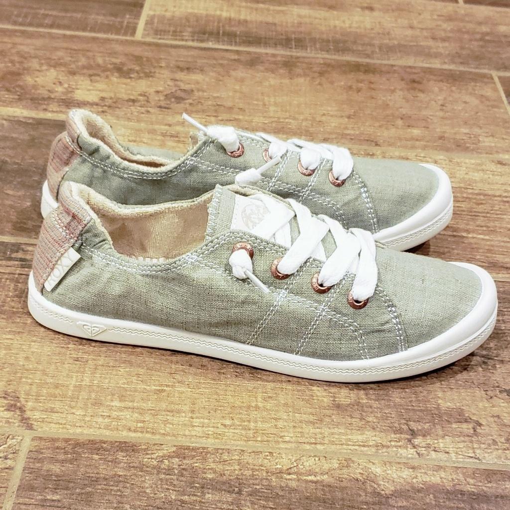 Roxy Bayshore Slip-On Sneaker, Olive, 6