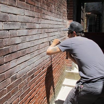 how to repair a brick wall