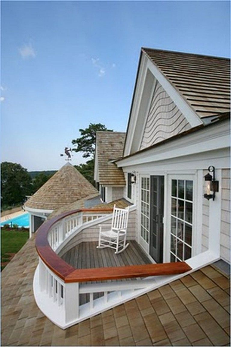 92 Stunning Second Floor Balcony Architecture Ideas Cape Cod House Exterior Balcony Design House Exterior