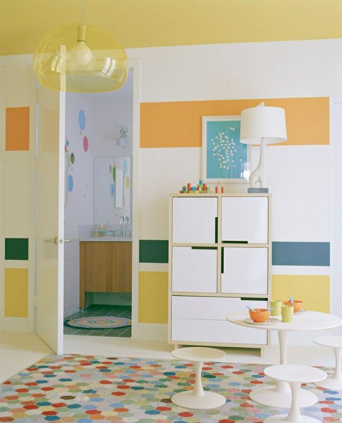 Superbe Kinderzimmer Wandgestaltung Ideen Kreative Wandgestaltung