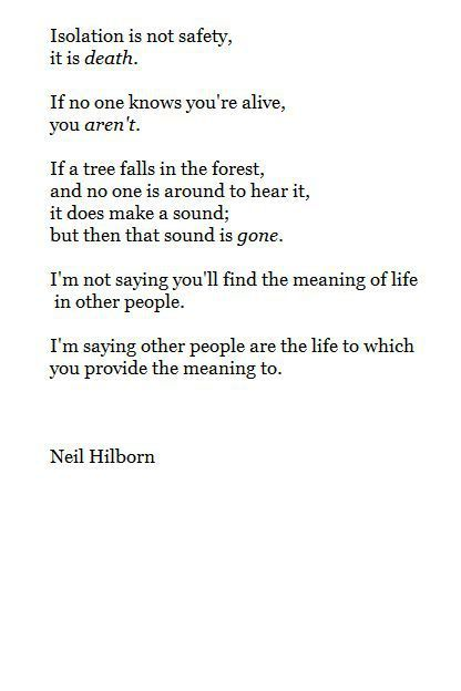 Sad And Depressing Quotes :Neil Hilborn | Words of a Wise Woman