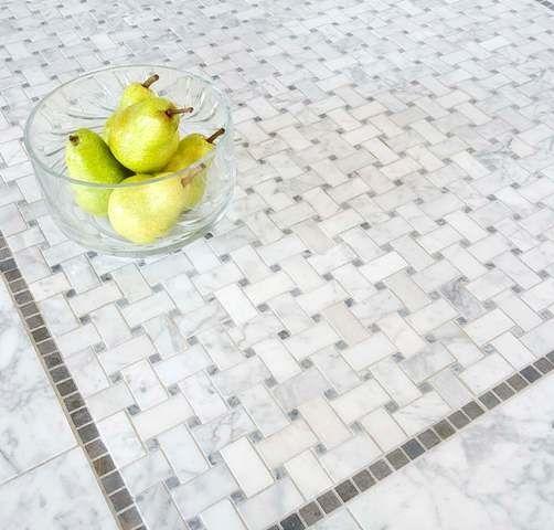 Basketweave Mosaic Tiles - traditional - bathroom tile - Mosaic Tile ...