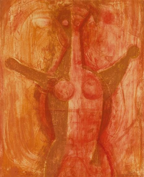 Artwork by Rufino Tamayo, Mujer, Made of Color lithograph