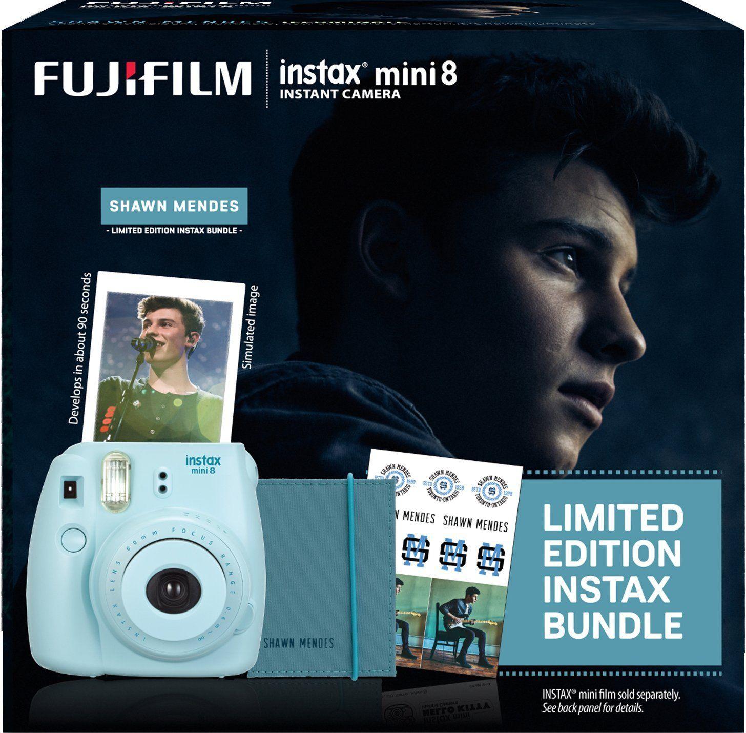 Amazon Com Fujifilm Instax Shawn Mendes Mini 8 Blue Bundle
