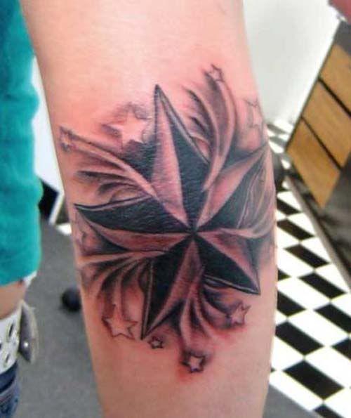 Black Nautical Star Tattoos Elbow Star Tattoo Nautical Star Tattoos Elbow Tattoos