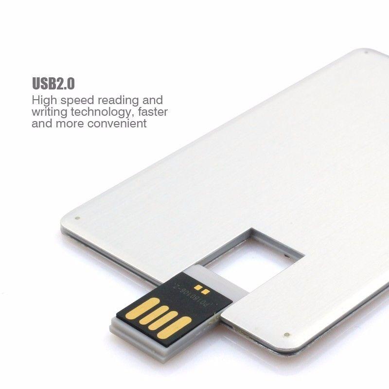 Hot Metal card model usb 2.0 flash drive pen drive can customize Logo