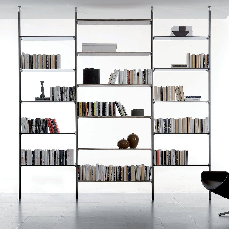 Photo of Libreria componibile con pali e contenitori Byron – DIOTTI.COM