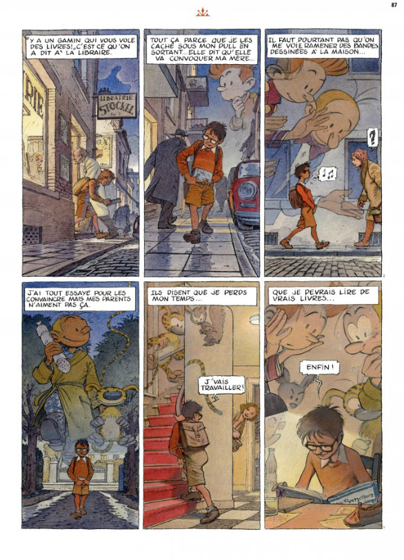 Special short story by François Schuiten in the Christmas 2012 edition of Spirou