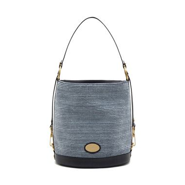 Mulberry Jamie (midnight blue mixed denim   natural leather ... 5f38e5fb60cb0