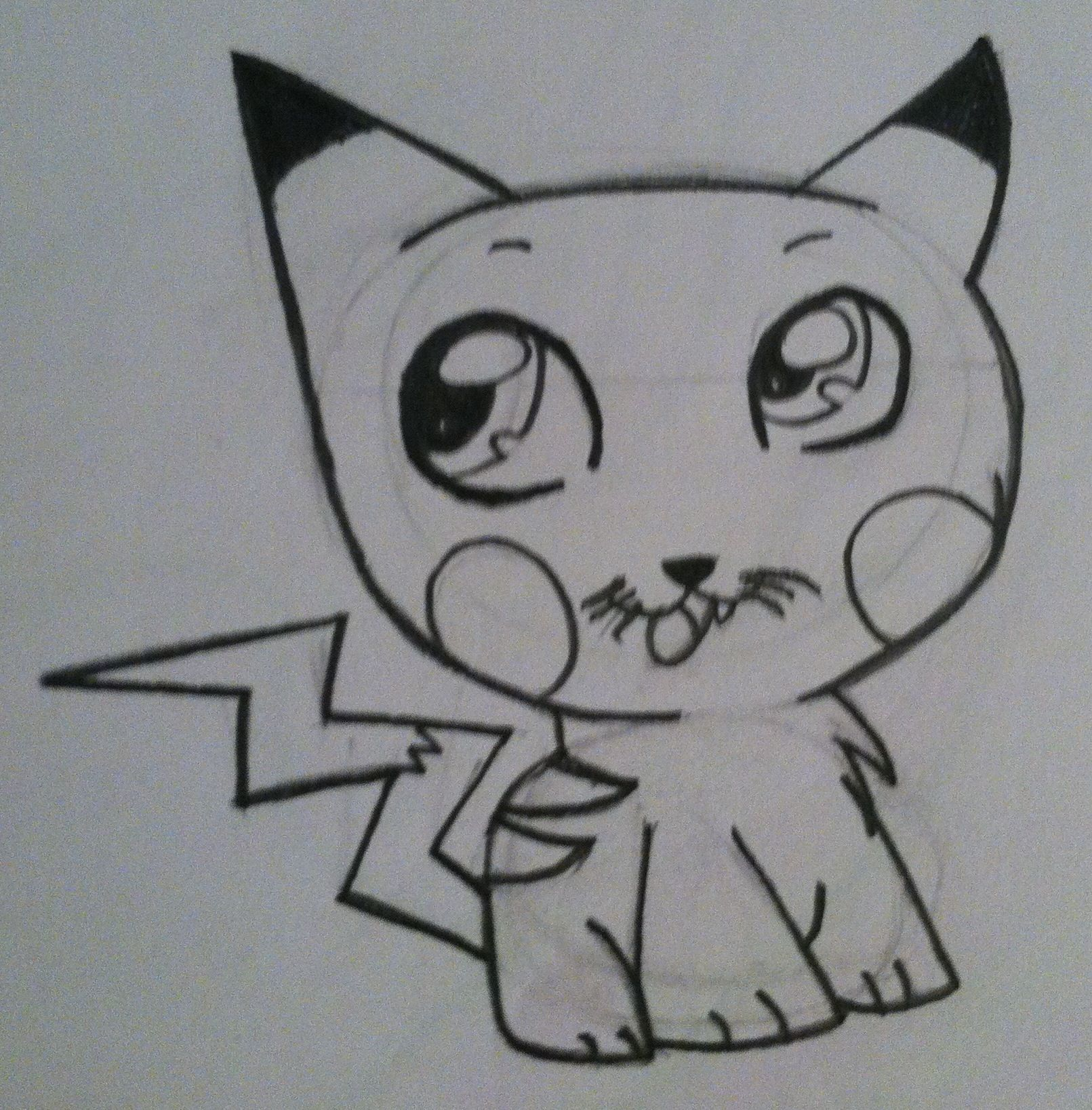pikachu kitty my drawings pinterest pikachu