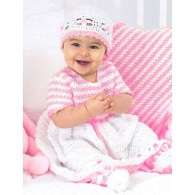 Sweet Baby Outfit in Bernat Baby Coordinates Solids. Discover more ...