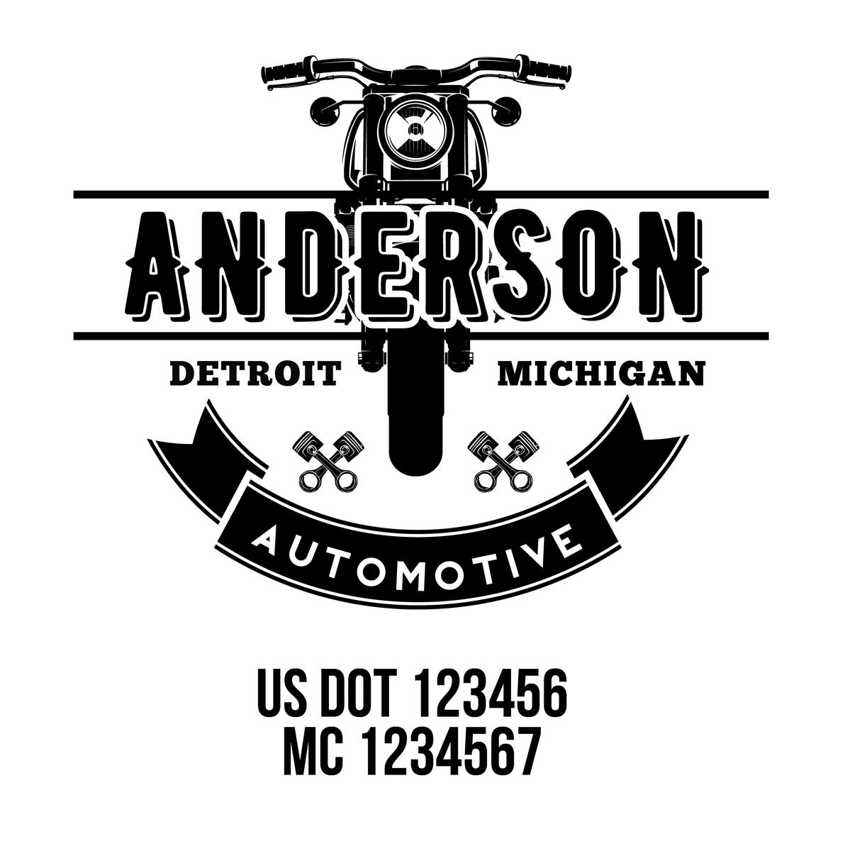 Mechanic, Auto Repair, Auto Body Shop Company Decal, 2