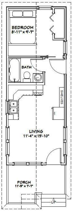 Image Result For 12 X 30 Tiny House Plans Tiny House Floor Plans Tiny House Plans House Plans