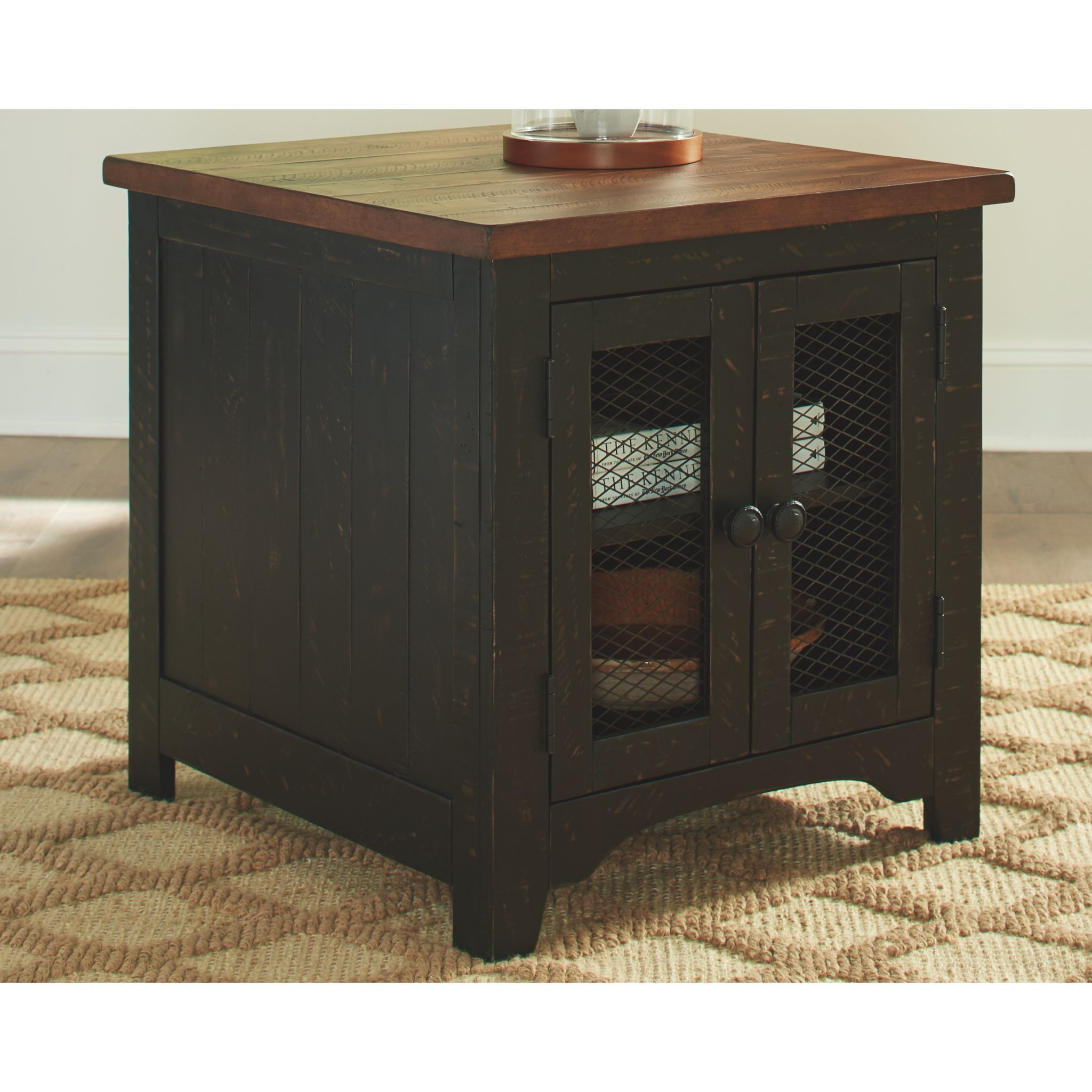 Kendell End Table BlackBrown End tables, Farmhouse end