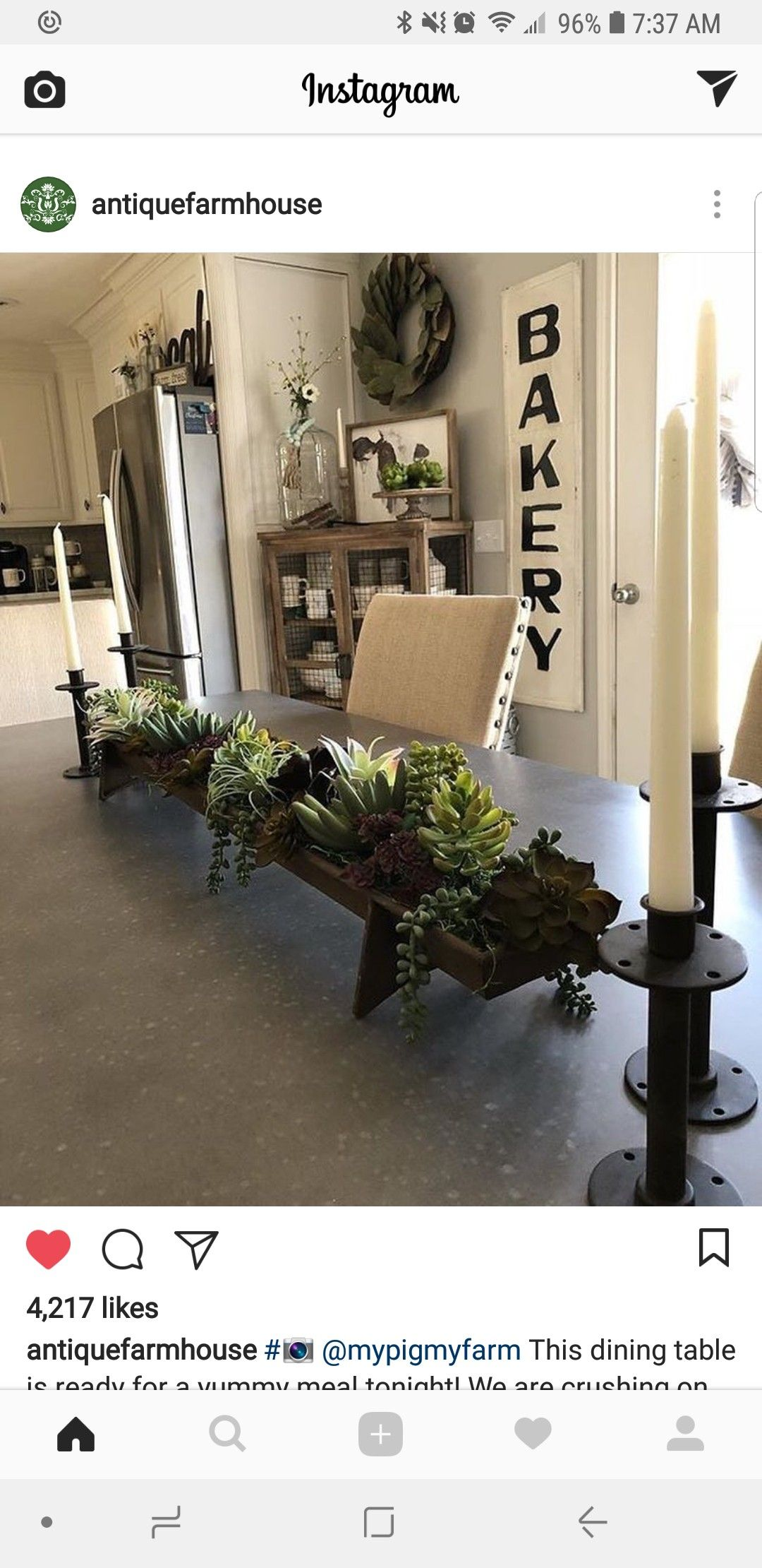 Perfect Farmhouse Succulent Table Centerpiece Dining Room Table