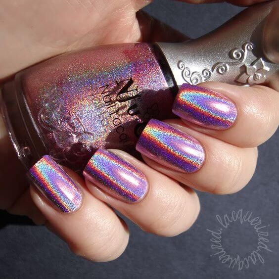 Rainbow Metallic Glitter Nail Polish