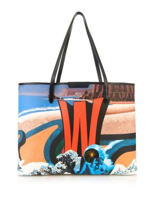803423bfe0 Mary Katrantzou Creates Alphabet Bags   Bags   Printed tote bags, Bags, dan  Canvas tote bags