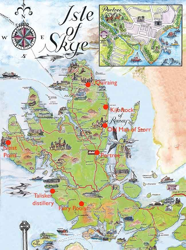 Isle Of Skye Map ULTIMATE GUIDE TO ISLE OF SKYE | Travel | Scotland, Scotland  Isle Of Skye Map