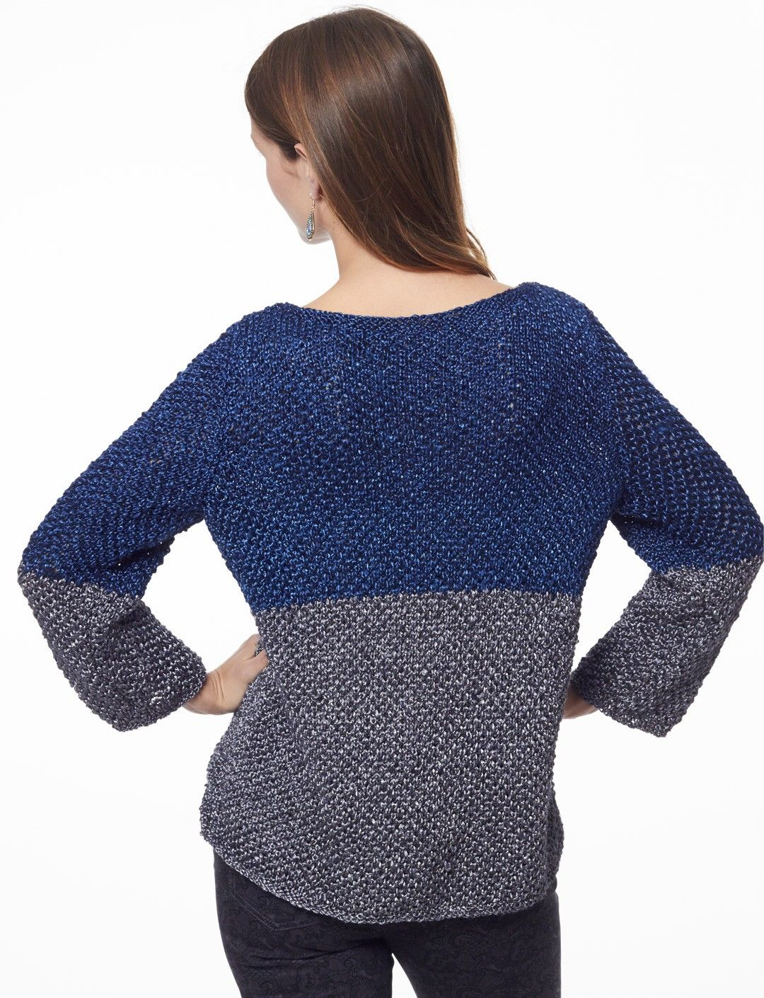 Yarnspirations.com - Patons Color Dipped Top - Patterns ...