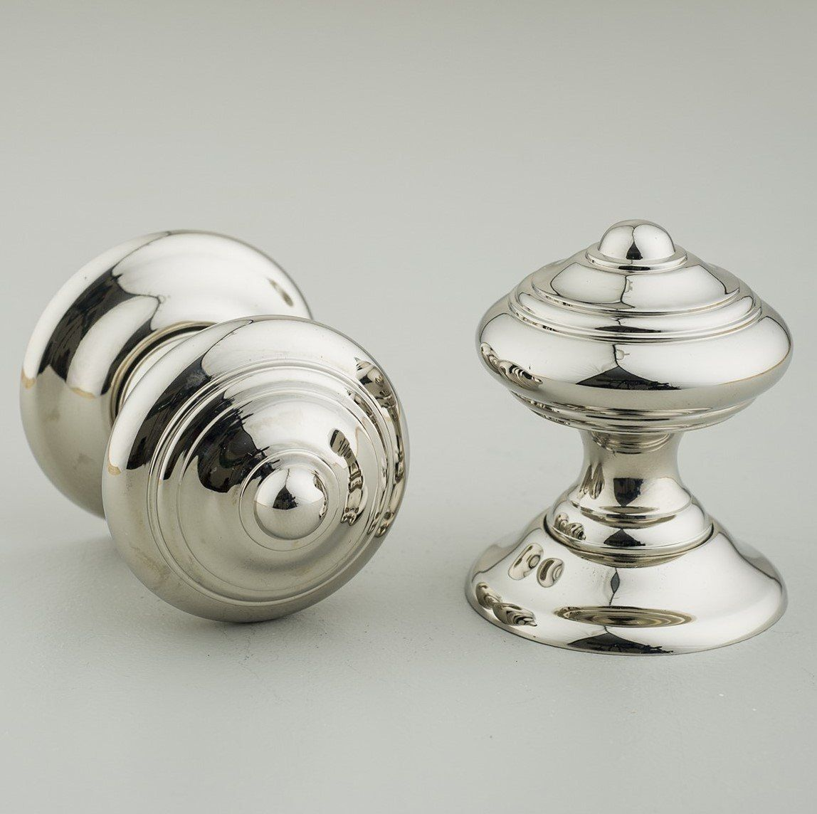 Regency-Style Concealed Screw Door Knobs (Pair) - Nickel | Door ...