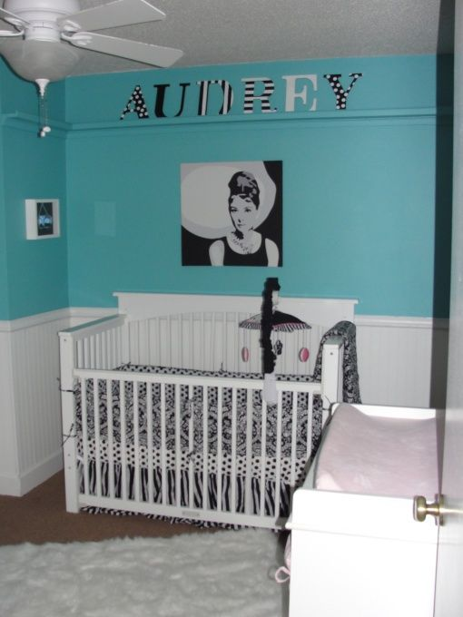 delightful Tiffany Blue Nursery Ideas Part - 8: Tiffany blue and wainscoting. I would do white detailing on the blue maybe  not.