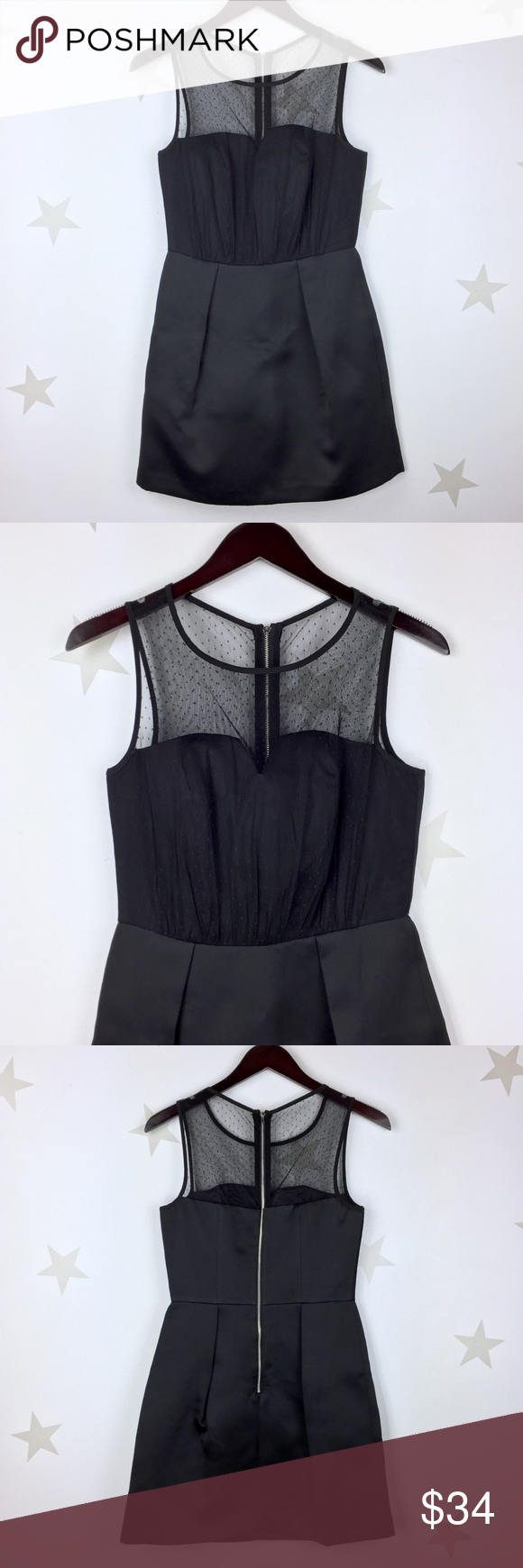New look mesh top bodice dress black flat lay bodice and overlay