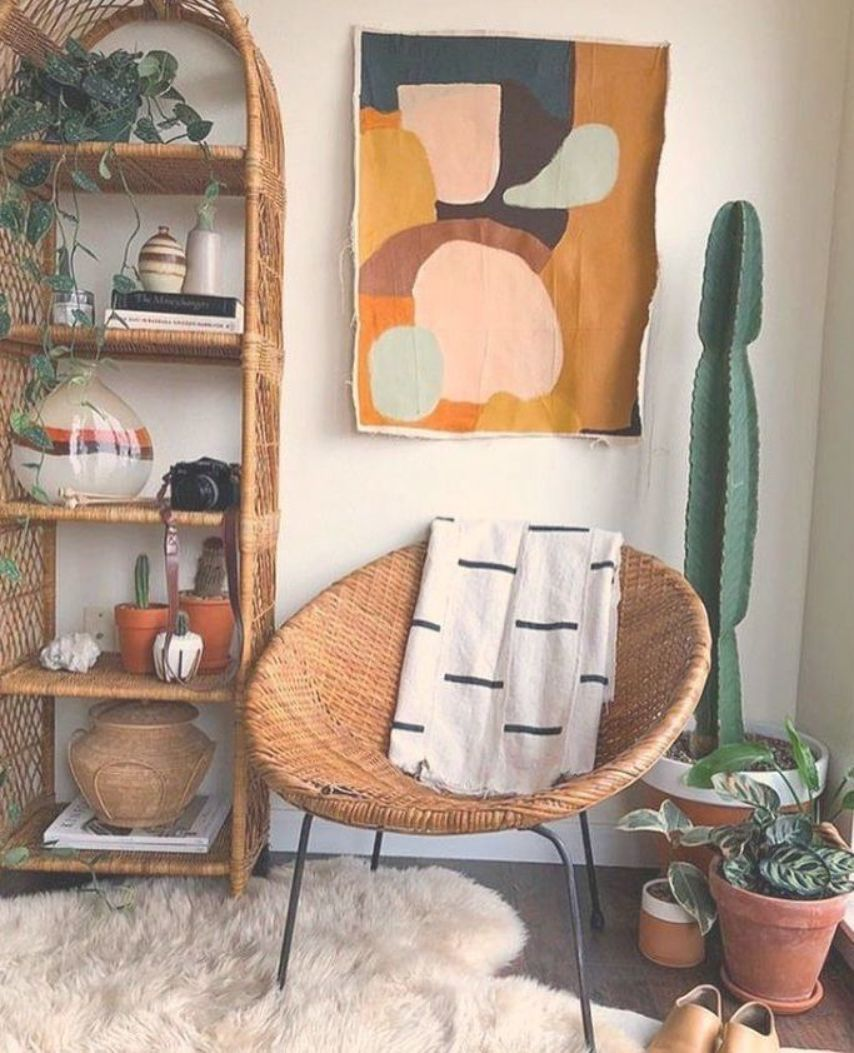 home decor  house decoration  bohemian style  rattan furniture  cactus  ind  Wohnzimmer