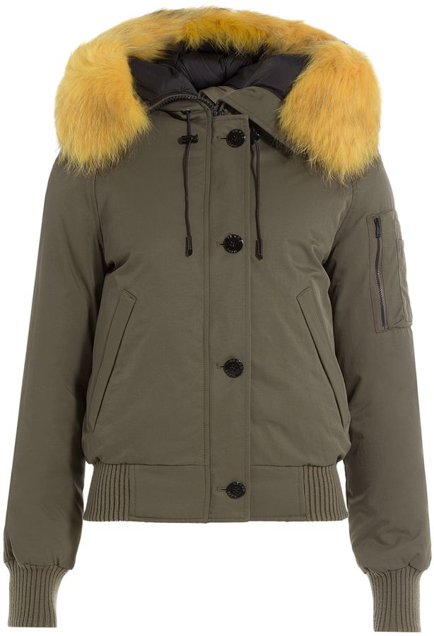 a8c74c436b72 Kenzo Down Jacket with Fur-Trimmed Hood