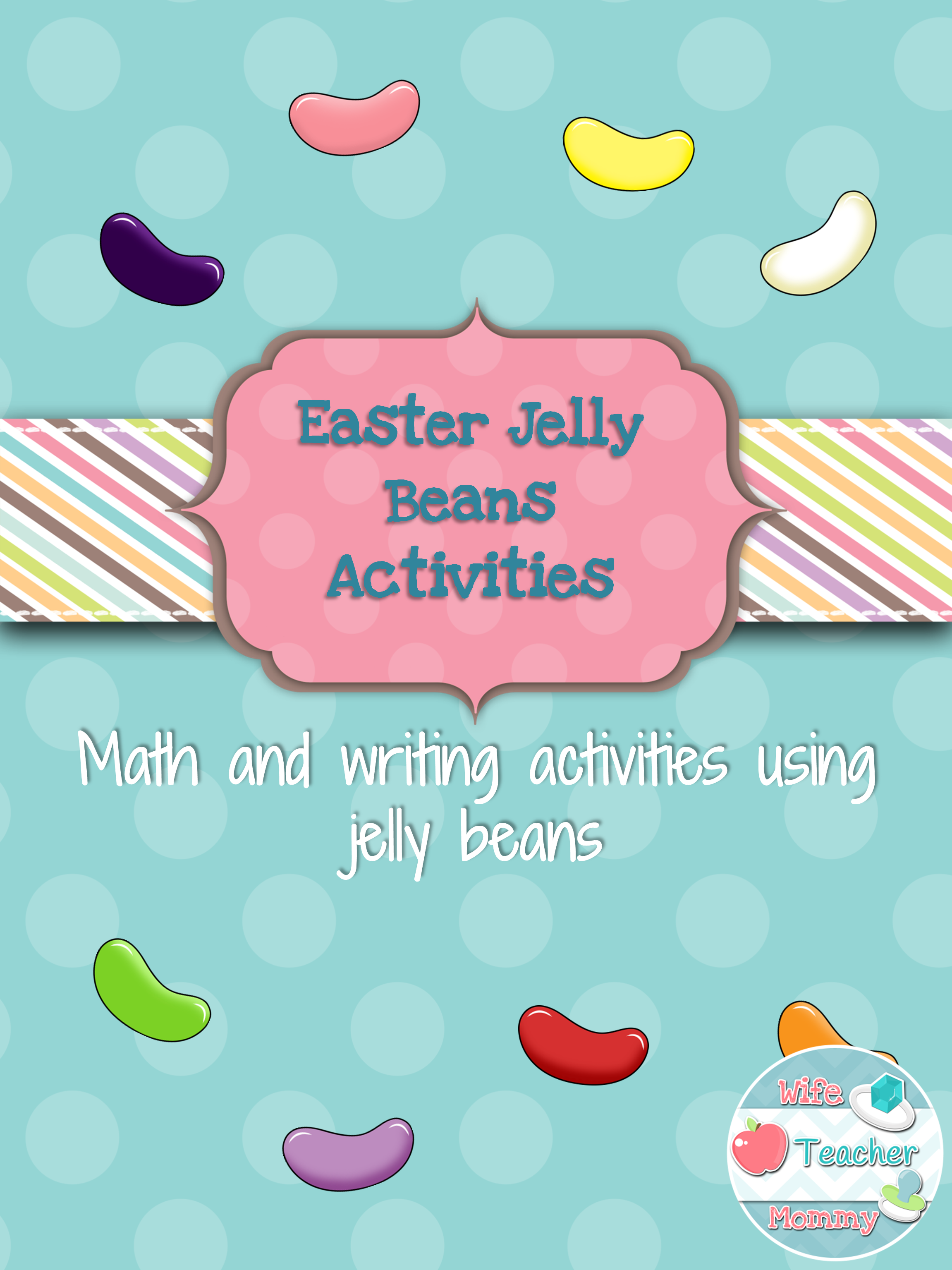 Easter Jelly Bean Fractions Graphing Probability Math ELA Writing ...