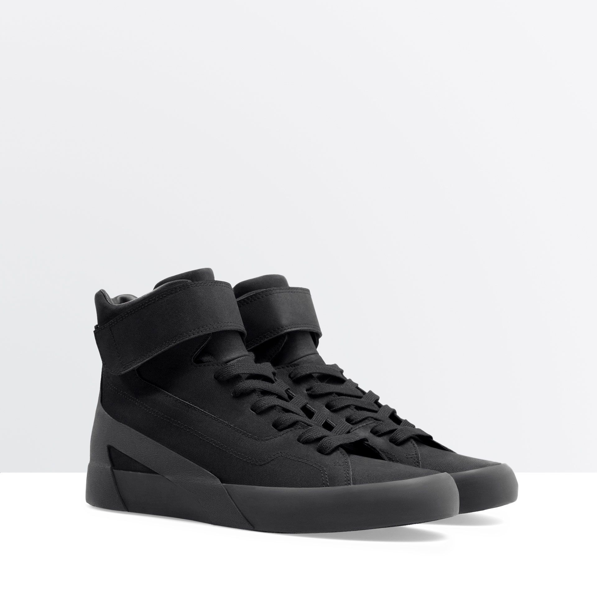 Image 3 of HIGH TOPS WITH VELCRO from Zara | Sneakers men