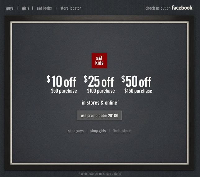 Abercrombie kids 10 50 off printable coupon save 10 off 50 abercrombie kids 10 50 off printable coupon save 10 off 50 25 fandeluxe Choice Image