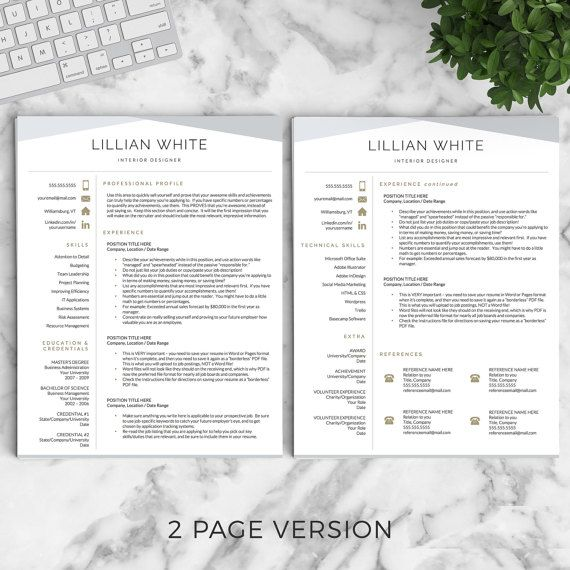 Professional Resume Modern Resume By Landeddesignstudio On Etsy