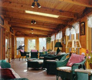 Custom log homes and log home design appalachian log for Log home sunrooms