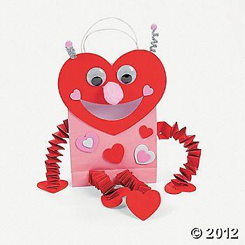 Luv Bug Valentine Card Holder Paper Bag Craft Kit  Crafts